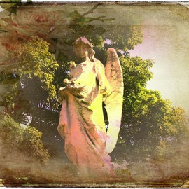 Zunilda Sarete: 'Guard The Heart', 2010 Other Photography, Inspirational. Artist Description:   Angel statue photomanipulation using texture and love quotes.  ...