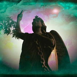 Zunilda Sarete: 'Soul Love', 2010 Other Photography, Inspirational. Artist Description:      Angel statue photomanipulation using texture and love quotes.     ...