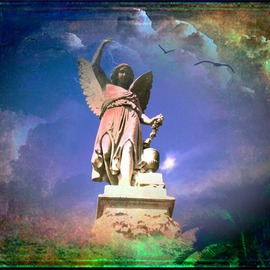 Zunilda Sarete: 'The Heart is a Treasure', 2010 Other Photography, Inspirational. Artist Description:     Angel statue photomanipulation using texture and love quotes.    ...