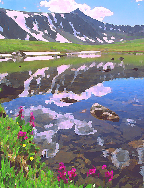 Steve Tohari  'Alpine Lake 1', created in 2018, Original Photography Color.