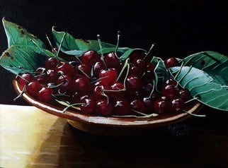 Andrea Zucca Artwork cherries, 2010 Oil Painting, Still Life