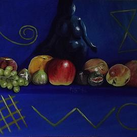 Andrea Zucca: 'great mother', 2015 Oil Painting, Still Life.
