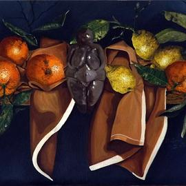 Andrea Zucca: 'mother goddness two', 2014 Oil Painting, Still Life.