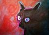 Barry Boobis - Black Magic cat painting artwork, Cats
