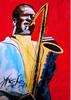 Barry Boobis - John Coltrane painting artwork Red Tenor, Music