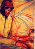 Barry Boobis - Ray Charles painting artwork Blue Cookin , Music