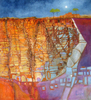 Cassandra Gordon-Harris - Houses of Moon Mesa, Abstract Landscape