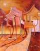 Cassandra Gordon-Harris - Sand Houses, Abstract Figurative