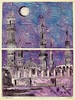 Jerry Gerard Di Falco - THE EGYPTIAN TOWERS AND THE TURQUOISE VIOLET NIGHT , Islamic