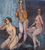 Linda Armstrong - Three Nudes on Canvas, Nudes