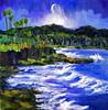 Randy Sprout - Blue Moon Over Laguna, Seascape