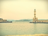 Susan Wellington - Chania Lighthouse in the Venetian Harbour, Marine