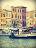 Susan Wellington - Ferry in front of the Venetian harbour houses Cha, Travel