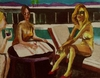 Harry Weisburd - California Pool Party , Figurative