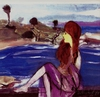 Harry Weisburd - Redhead by the Sea, Figurative