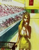 Harry Weisburd - Supermarket Selfie California Style, Figurative